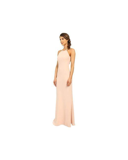 cbb9fcc85b401 ... Calvin Klein - Pink Scoop Neck Spaghetti Straps Evening Dress - Lyst ...