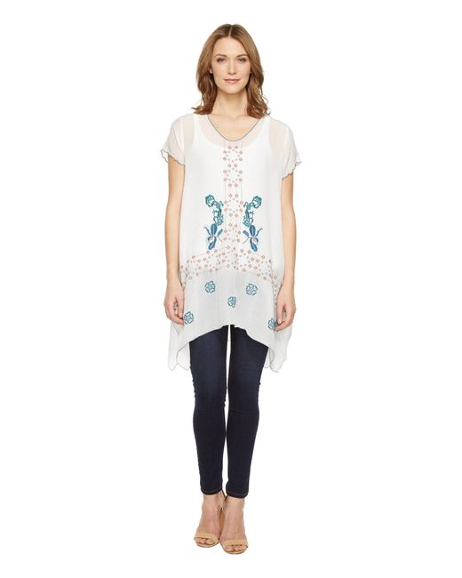 Johnny Was - White Willamy Blouse - Lyst
