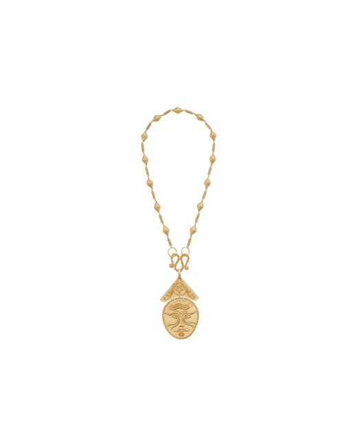 Tory Burch - Multicolor Sculptural Face Statement Necklace - Lyst