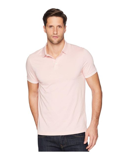 63c123711d Lyst - Perry Ellis Essential End On End Polo in Pink for Men - Save 20%