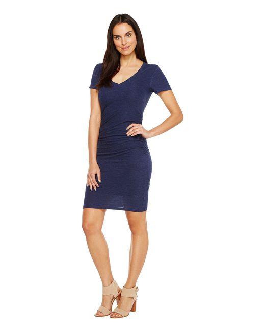 Lanston - Blue Ruched T-shirt Dress - Lyst