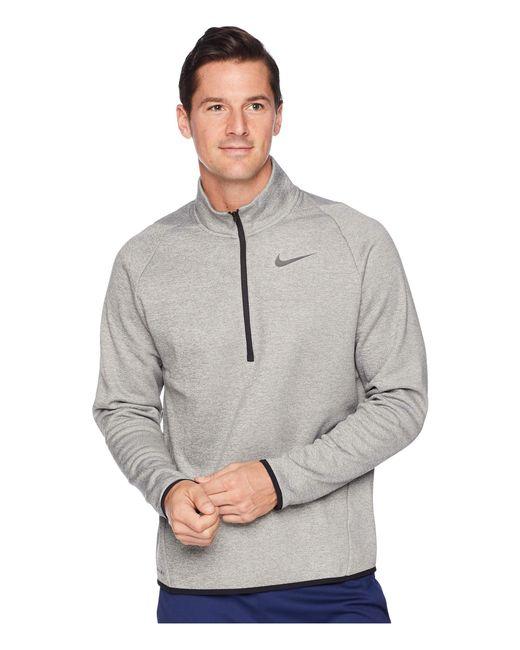 cc82c900 Nike - Gray Thermal Top Long Sleeve 1/4 Zip for Men - Lyst ...