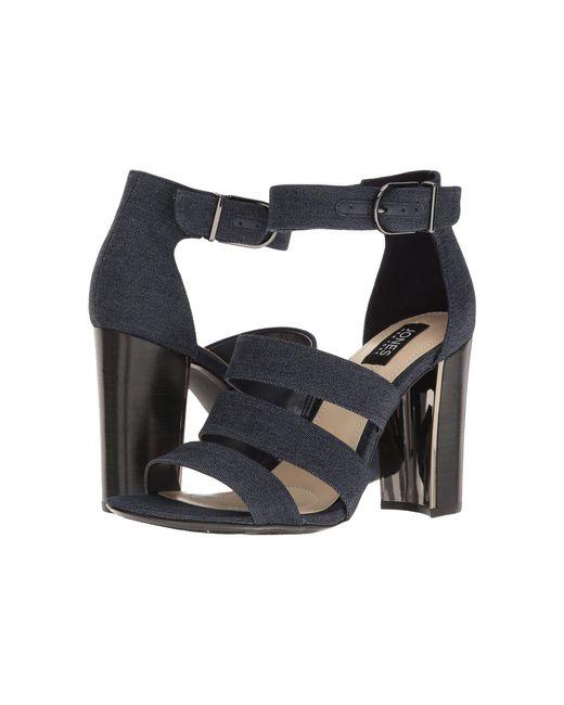 Jones New York - Blue Jesse Block Heel Sandal - Lyst