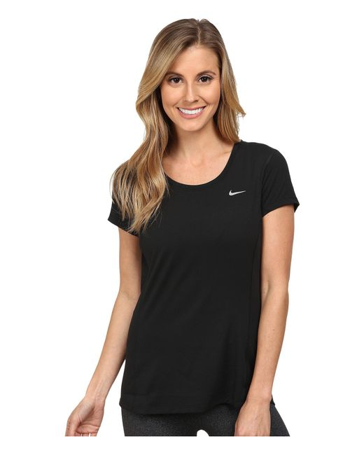 Nike - Black Dry Contour Running Tee - Lyst