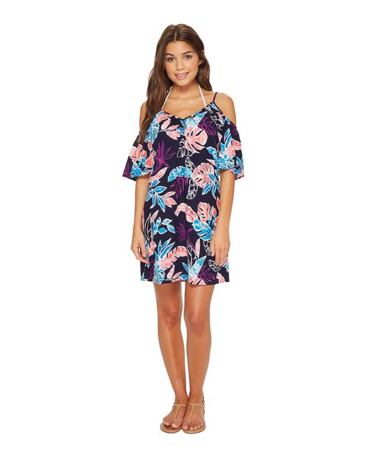 Tommy Bahama - Blue Graphic Tropics Cold-shoulder Dress Cover-up - Lyst
