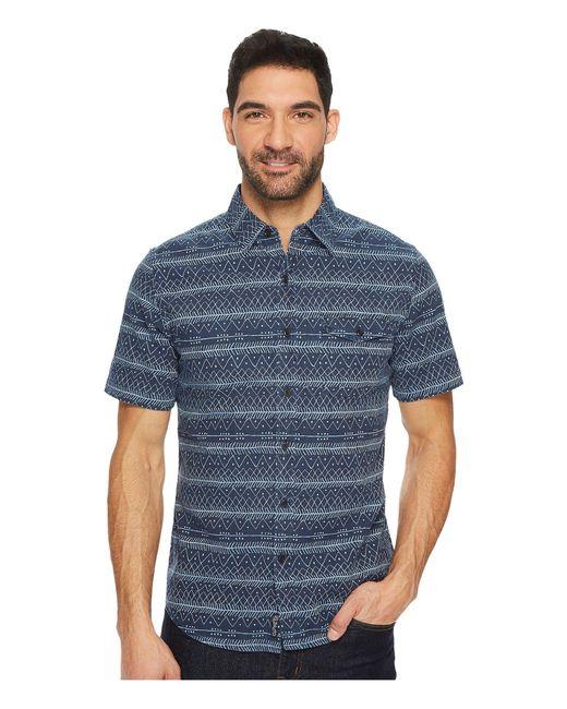 U.S. POLO ASSN. - Blue Slim Fit Stripe, Plaid Or Print Long Sleeve Sport Shirt for Men - Lyst
