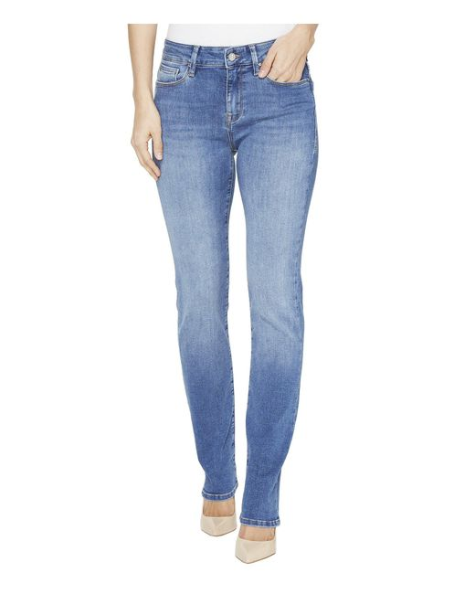 Mavi Jeans - Blue Kendra High Rise Straight Leg Jeans In Mid Soft Shanti - Lyst