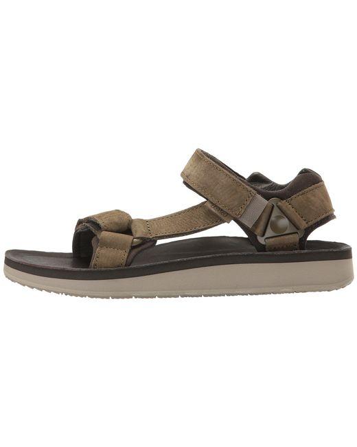a0184eecdacf ... Teva - Green M Original Universal Premier-leather Sandal for Men - Lyst  ...