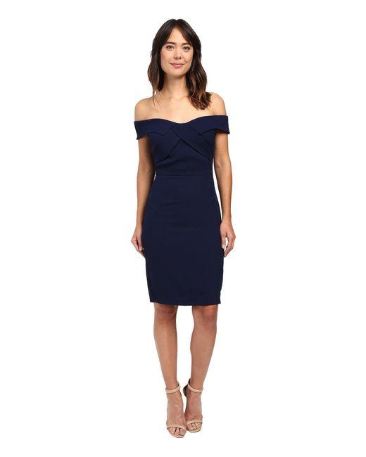 Eva by Eva Franco - Blue Off The Shoulder Dress - Lyst