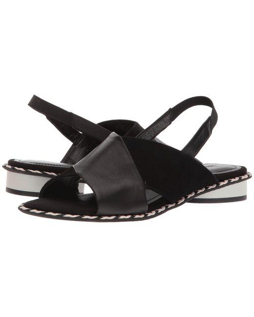 Kelsi Dagger Brooklyn - Black Saline Cross Strap Sandal (women) - Lyst