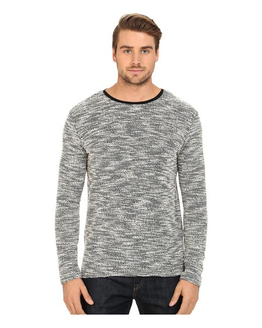 7 Diamonds - Gray Burgos Long Sleeve Shirt for Men - Lyst