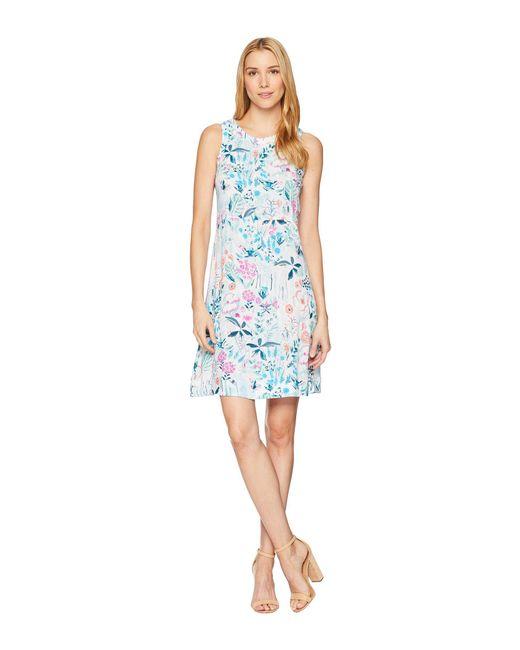 Joules - Blue Ava Sleeveless Seamed Dress - Lyst