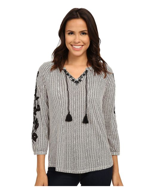 Lucky Brand | Multicolor Dot Striped Top | Lyst