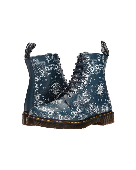 Dr. Martens - Blue Pascal Leather Combat Boot - Lyst