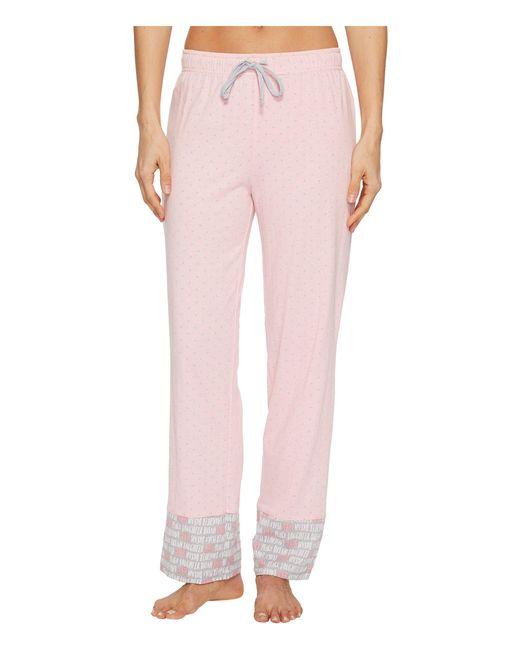 Jockey - Pink Printed Long Pants - Lyst