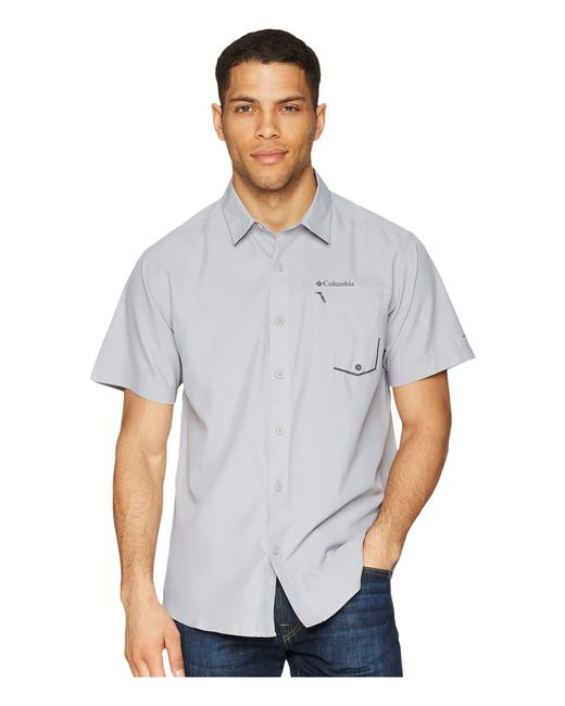 Columbia - Gray Twisted Creek Short Sleeve Top for Men - Lyst