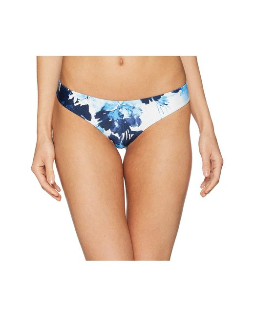 4bf3849b43b20 Lyst - RVCA Paint Flower Cheeky Bottom in Blue - Save 33%