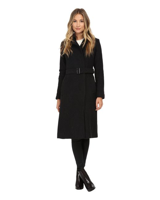 Cole Haan   Black Double Breasted Maxi Coat   Lyst