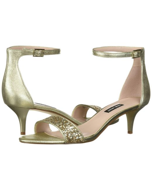 Nine West - Metallic Leisa Heel Sandal - Lyst