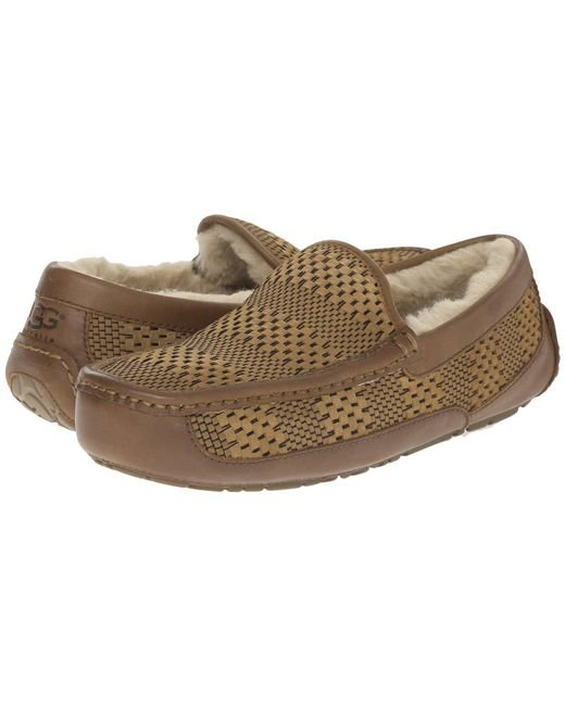 Ugg | Brown Ascot Weave | Lyst