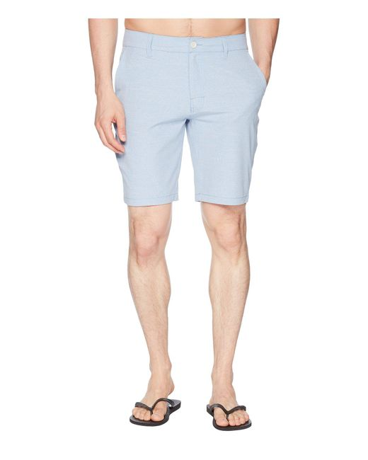 RVCA - Blue Balance Hybrid Shorts for Men - Lyst