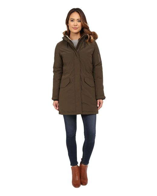 Cole Haan - Multicolor Down Parka With Sherpa Faux Fur Hood Lining - Lyst