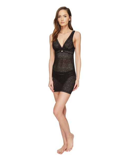 Else - Black Pebble Soft Cup Cross Over Fitted Slip - Lyst