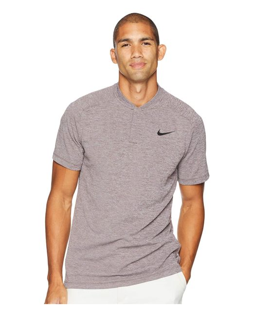 5aba3564 Nike - Gray Aeroreact Momentum Polo Slim for Men - Lyst ...