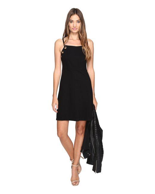 Kensie - Black Twill Ponte Dress Ks2k7718 - Lyst