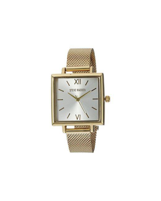 7a435032bcc Steve Madden - Metallic Quartz Watch With Alloy Strap