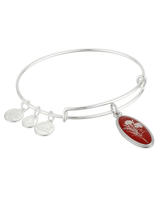ALEX AND ANI - Metallic Love Spell Carnation Expandable Wire Bangle - Lyst