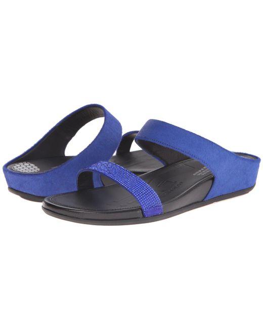 Fitflop - Blue Banda Micro-crystal Slide™ - Lyst