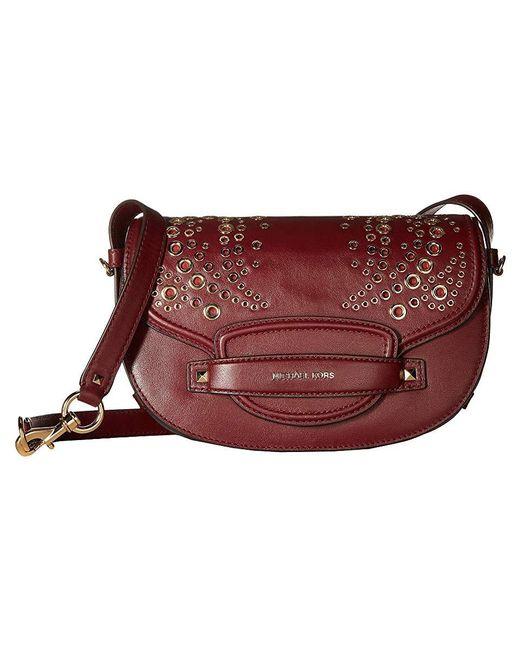 2527e494398b MICHAEL Michael Kors - Multicolor Cary Medium Saddle Bag (oxblood) Bags -  Lyst ...