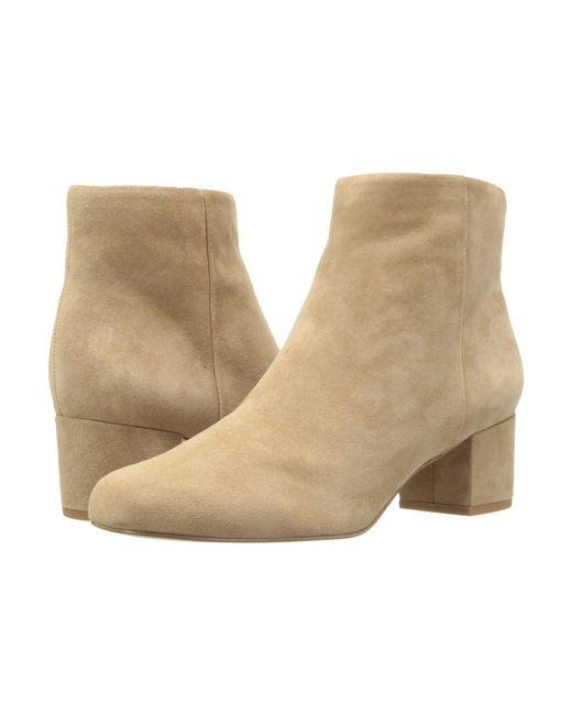 Sam Edelman - Natural Edith Suede Ankle Boots - Lyst