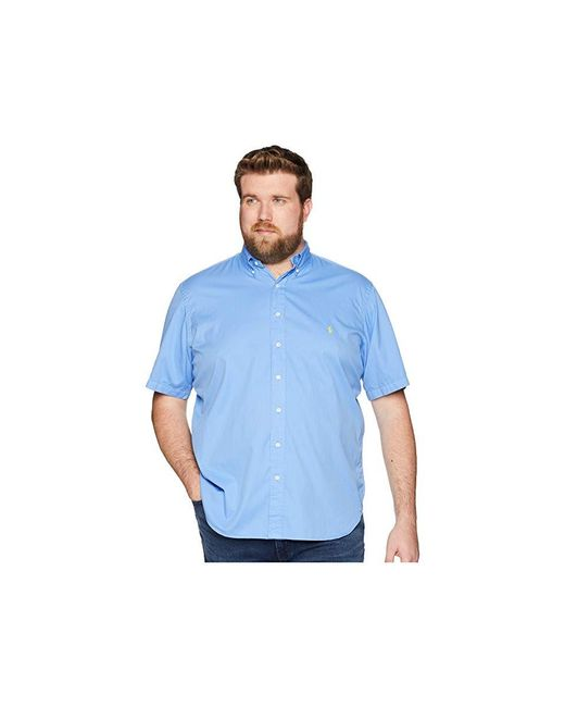 baa32118 Polo Ralph Lauren - Big Tall Garment Dyed Chino Short Sleeve Sport Shirt  (harbor Island ...