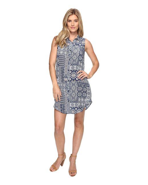 Tolani - Blue Holly Sleeveless Tunic Dress - Lyst
