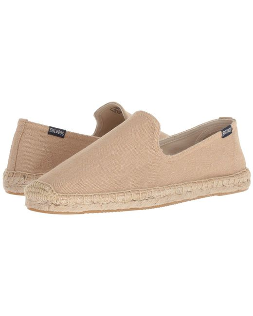 7f70cf99d5bf Lyst - Soludos Canvas Smoking Slipper in Natural for Men - Save 20%