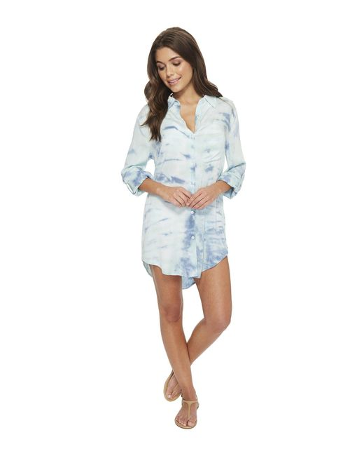 Green Dragon - Blue Heaven Big Sur Boyfriend Shirt - Lyst