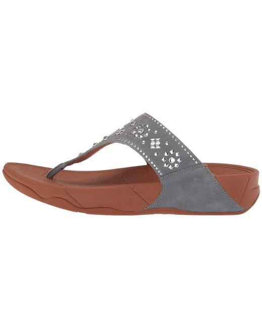 dc34101b2835f8 ... Fitflop - Multicolor Lulu Aztek Stud Toe-thong Sandals-suede - Lyst ...