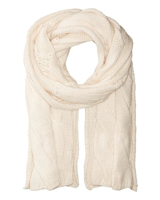 Polo Ralph Lauren - Natural Exploded Rope Cable Scarf - Lyst
