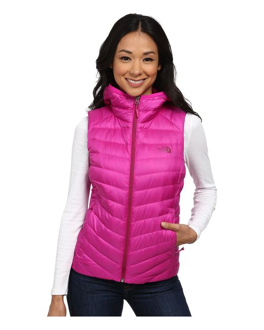 The North Face - Pink Tonnerro Hooded Vest - Lyst