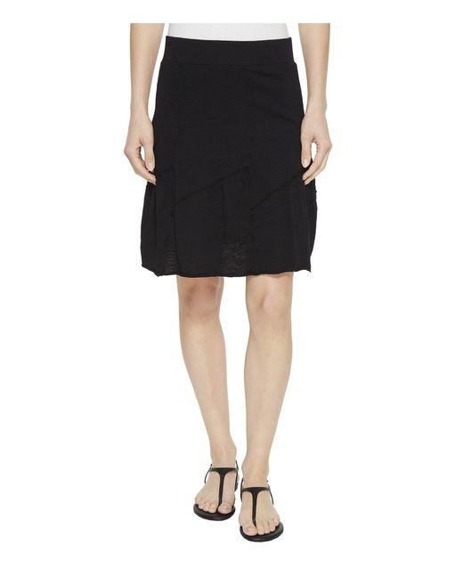 Mod-o-doc - Black Slub Jersey Asymmetrical Seamed Skirt - Lyst