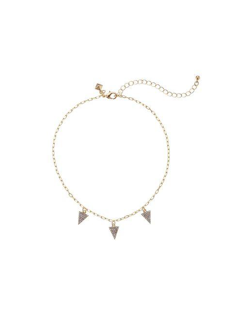 Rebecca Minkoff - Metallic Pave Pyramid Necklace - Lyst