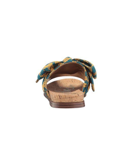 96e0d65781b15 ... Sam Edelman - Multicolor  henna  Woven Bow Cork Slide Sandals ...