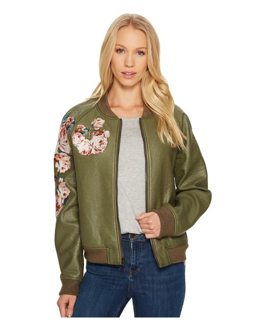 Joe's Jeans - Green Embroidered Poly Jacket - Lyst