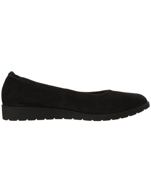 e961496ffa2 ... Eileen Fisher - Black Honest Easy Leather Sneaker-bottom Slip-on Flat -  Lyst ...
