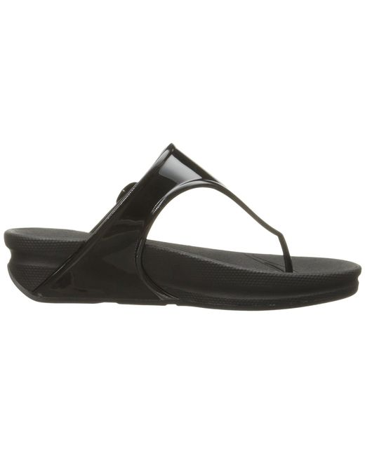 4cb7ae93ea4 ... Fitflop - Black Superjelly Rubber Flip Flops Jelly Sandal - Lyst ...