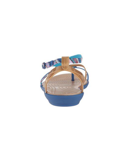 6a4dd52dad5 Lyst - Crocs™ Isabella Gladiator Graphic Sandal in Blue - Save 32%