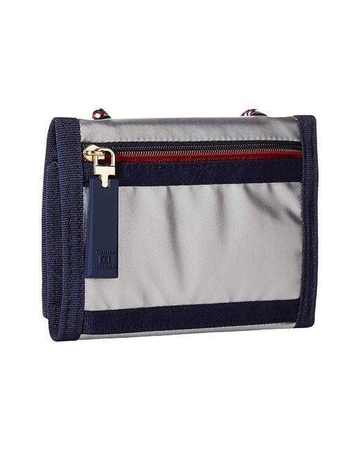5123b3bc ... Tommy Hilfiger Metallic Leah Trifold Wallet (silver) Wallet Handbags ...
