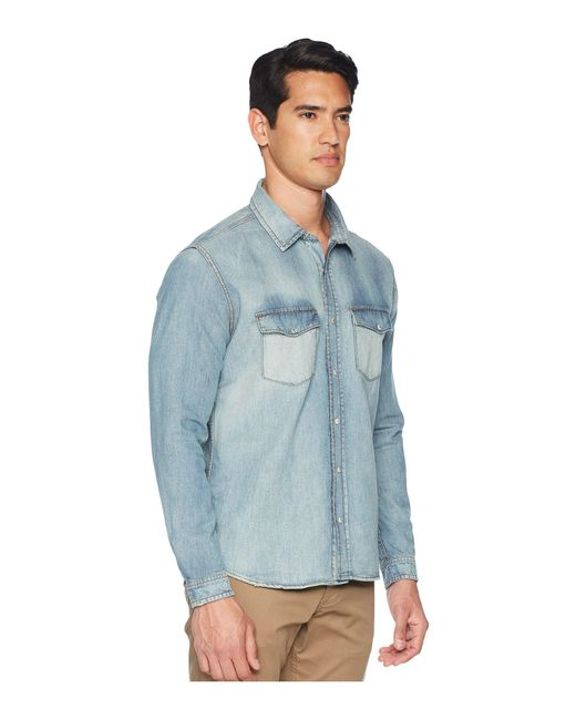 ae6a26a5870 Lyst - The Kooples Denim Shirt in Blue for Men - Save 60%